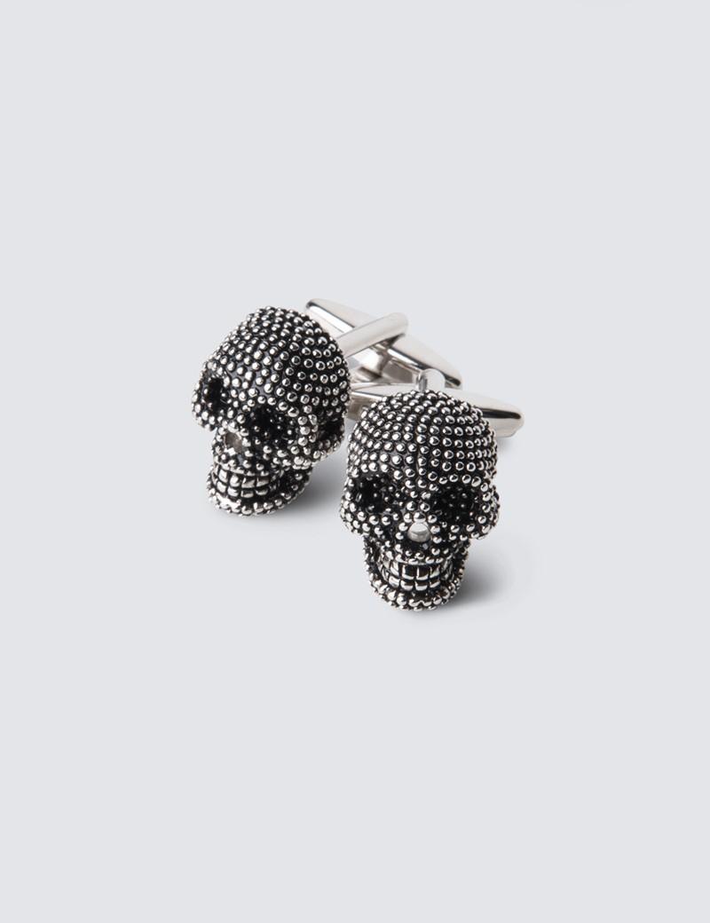 Men's Silver Skull Cufflink