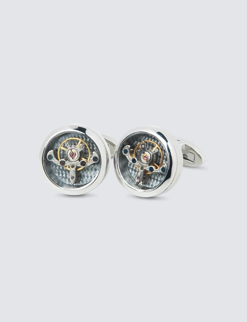 Mens Tourbillon Movement Cufflinks