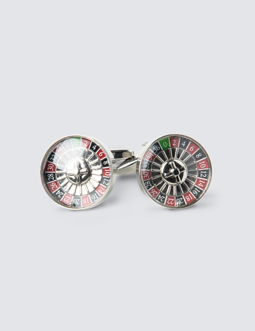 Men's Roulette Wheel Cufflinks