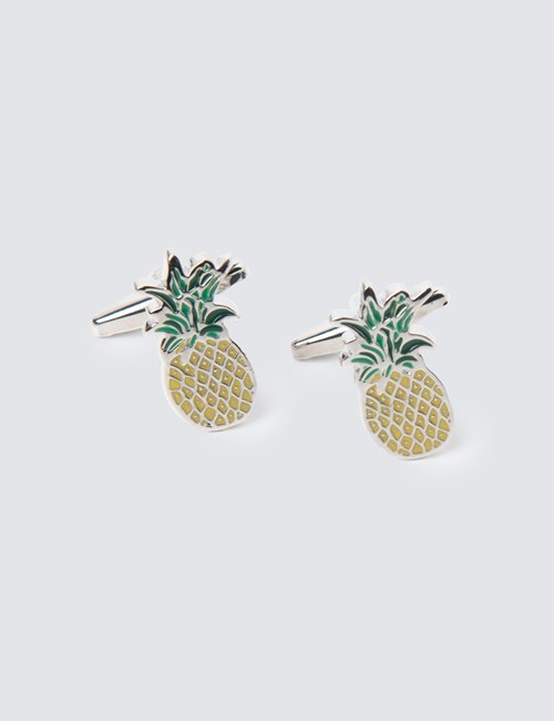 Yellow & Green Pineapple Cufflinks