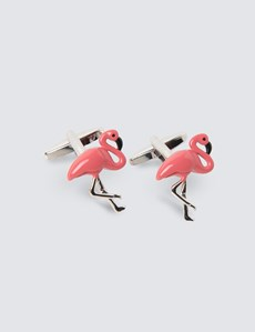 Pink Flamingo Cufflinks