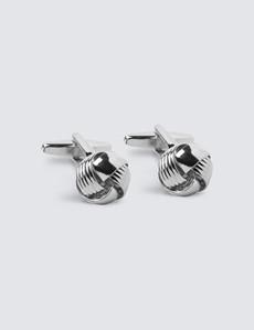 Men's Silver Wire Knot Cufflink