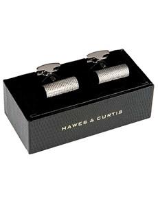 Men's Classic Diamond Cut Design Bar Cufflink