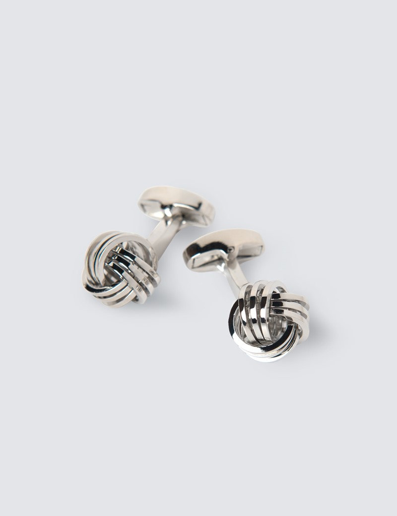 Men's Silver Triple Knot Cufflink