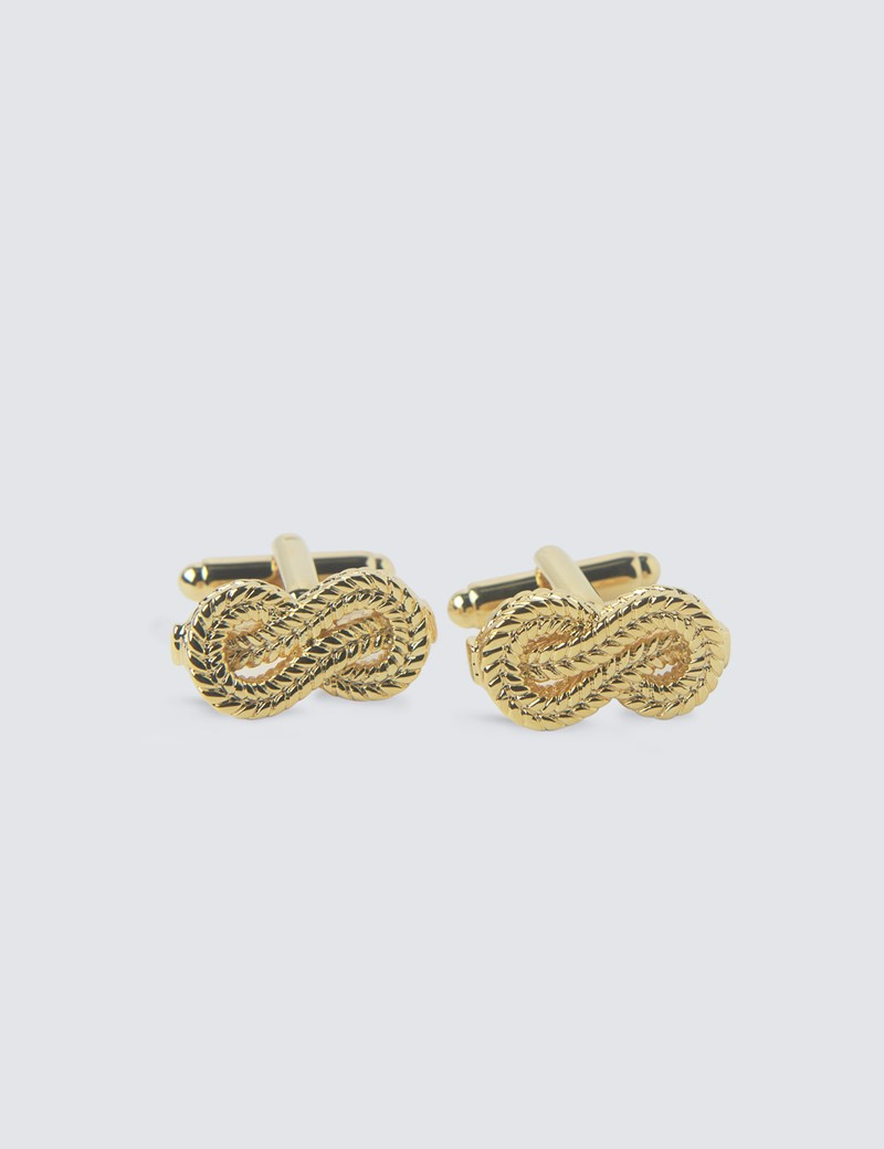 Gold Knotted Cufflinks