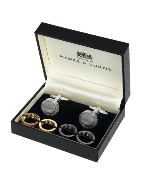 Men's Multi Colour Interchangeable Cufflink Gift Set