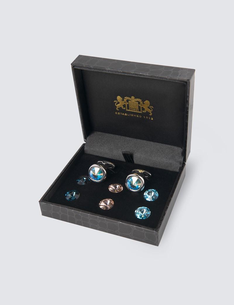 Men's Swarovski Crystal Cufflink Gift Set