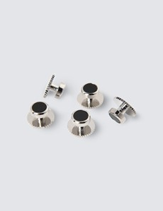 Men's Black Onyx Cufflink & Dress Stud Gift Set