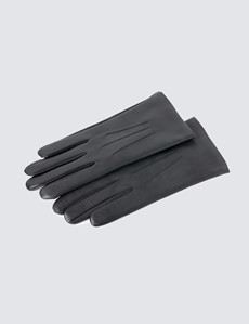 Men's Black Hairsheep Leather Gloves
