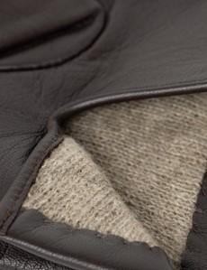 Men's Brown Hairsheep Leather Gloves
