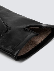 Men's Black Leather Glove
