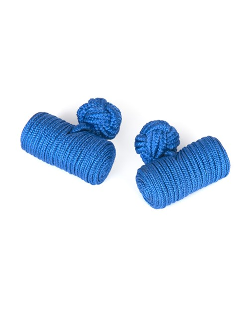 Men's Royal Blue Silk Barrel