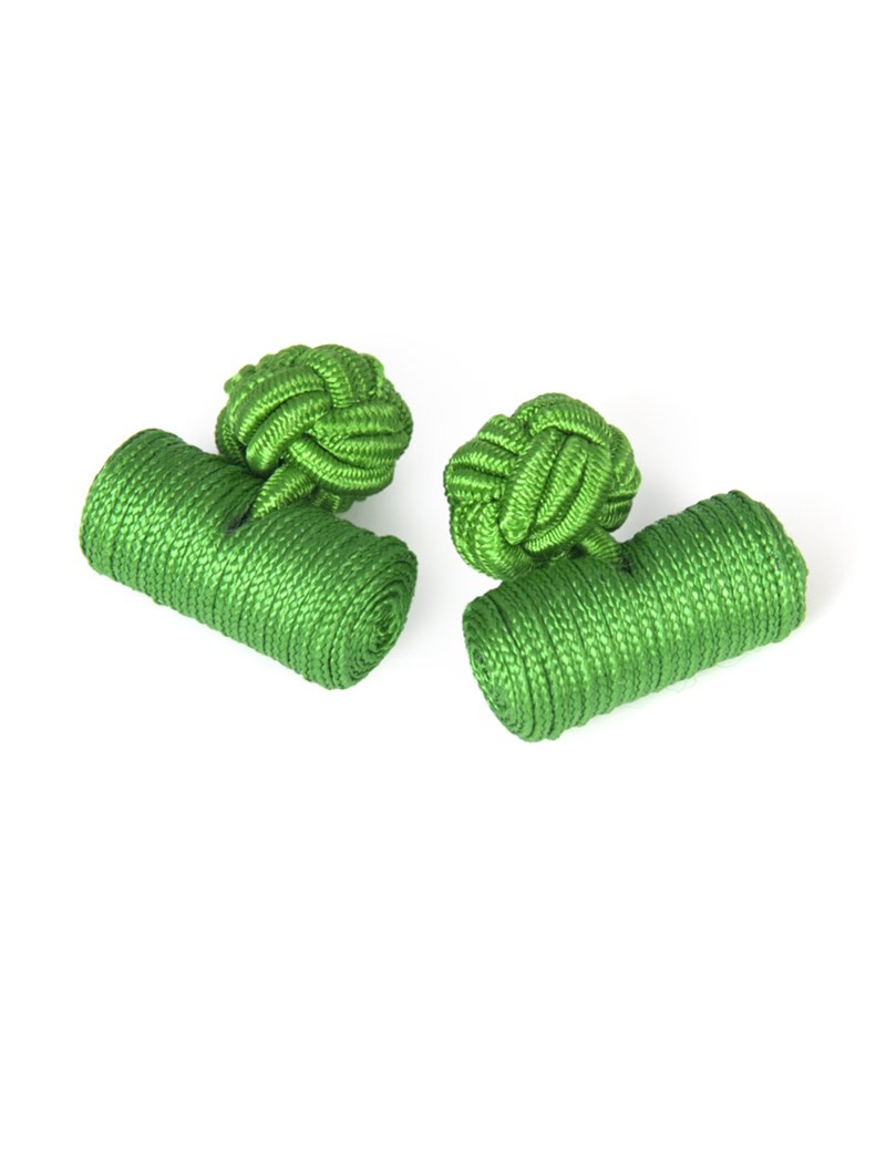 Men's Green Silk Barrel