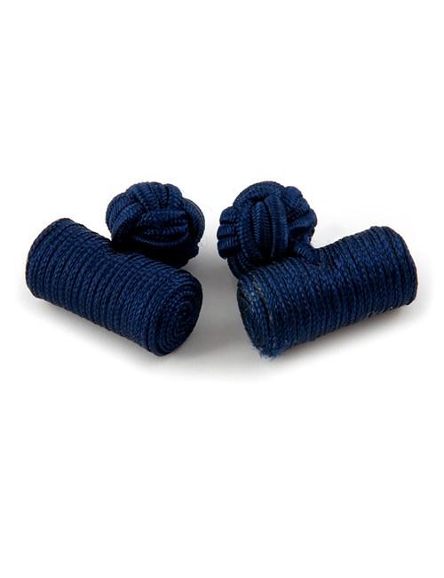 Seidenfässchen – Marineblau – Zylinder Manschettenknöpfe