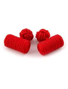 Seidenfässchen – Rot – Zylinder Manschettenknöpfe