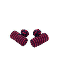 Men's Navy & Red Silk Barrel