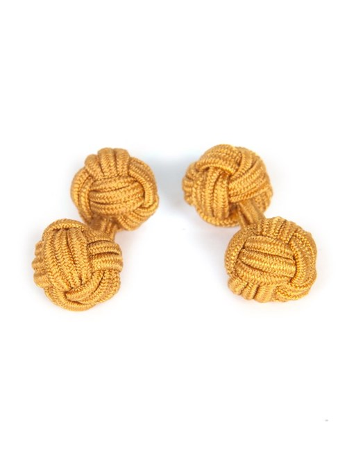 Men's Plain Gold Silk Knot
