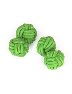Men's Plain Green Silk Knot