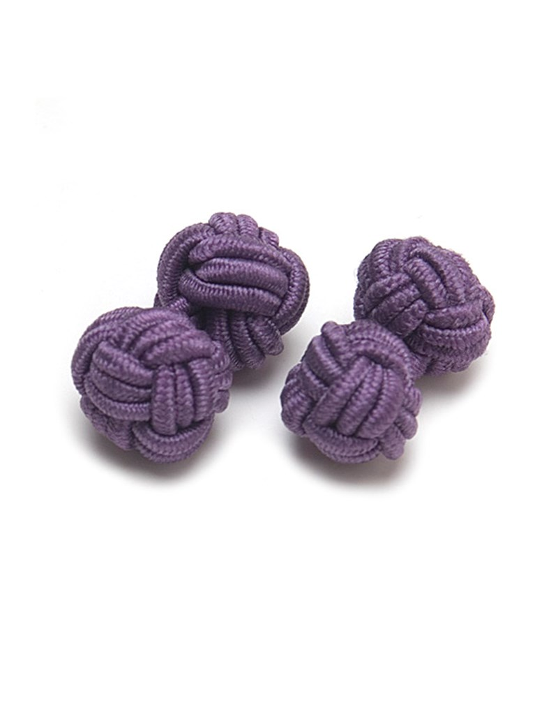 Men's Purple Silk Knot