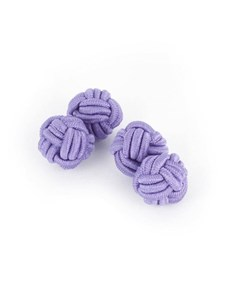 Men's Plain Lilac Silk Knot