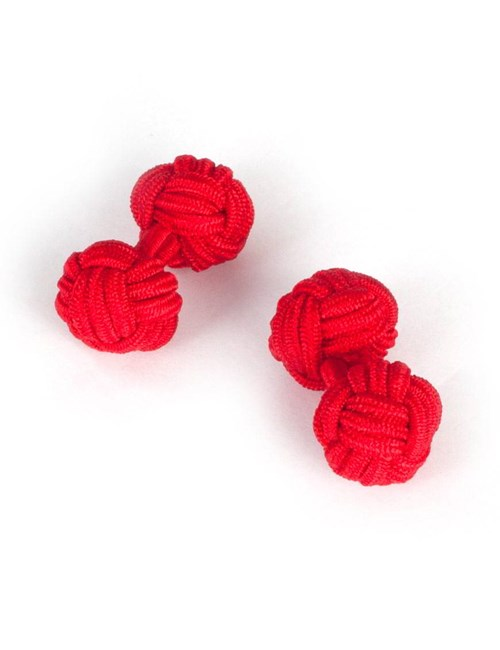 Men's Plain Red Silk Knot