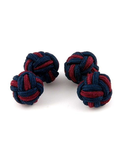 Men's Navy & Red Silk Knot