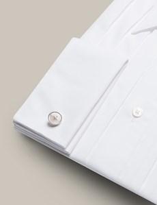 Mark Francis Kollektion – Smokinghemd – Extra Slim Fit – Kent Kragen – Weiß