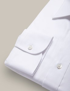 Men's Formal White Extra Slim Fit Oxford Shirt - Single Cuff