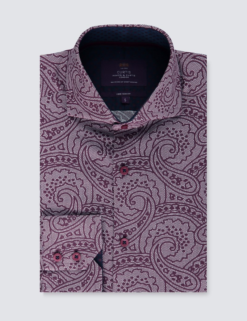 Casualhemd – Slim Fit – York – Paisley lace
