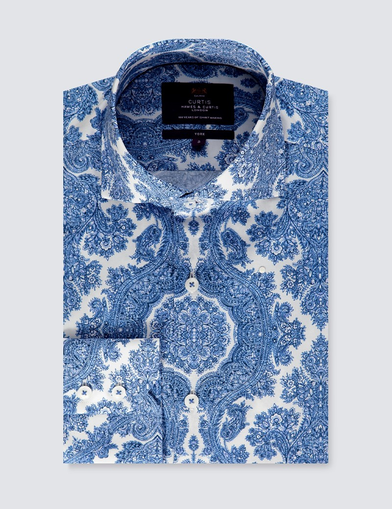 Casualhemd – Slim Fit – York – Delfter Paisley