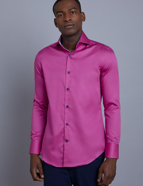 Casualhemd – Slim Fit – York – Magenta