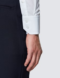 Casual Hemd – Relaxed Slim Fit – York – Popeline weiß