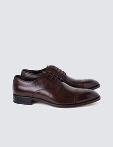 Men's Brown Leather Semi Brogue Shoe