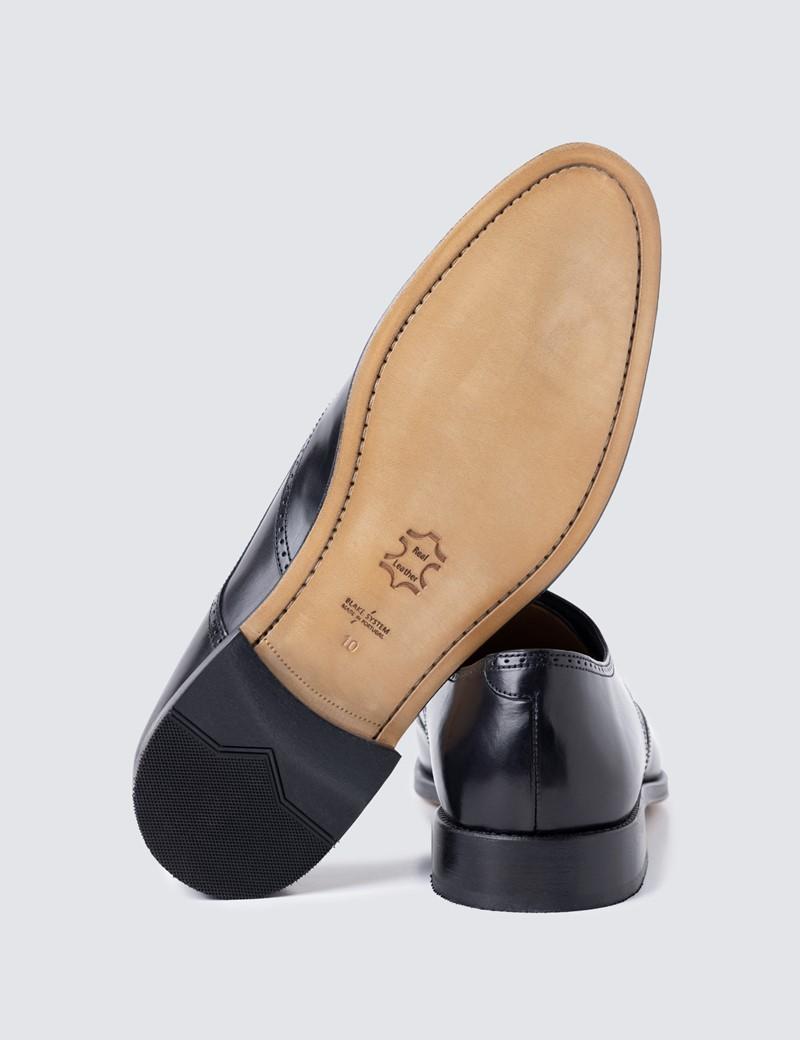 Men's Black Leather Brogue Shoe