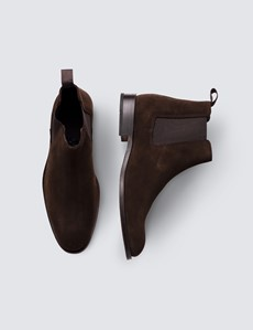 Men's Brown Leather Suede Chelsea Boot