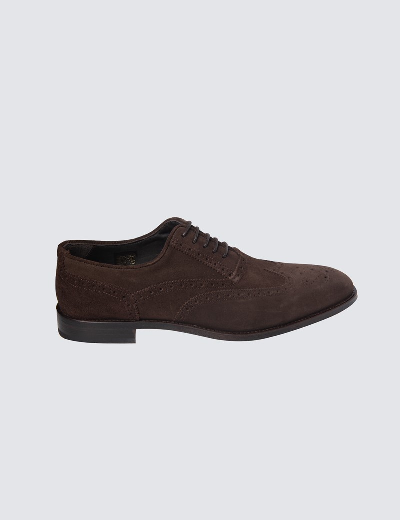 Men's Brown Stokes Suede Brogue