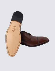 Business-Schuhe – Captoe Derby – Leder – Braun