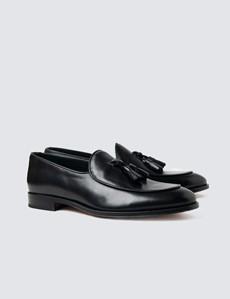 Men's Black Leather Tassel Loafer