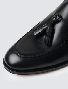 Quasten Slipper – Tassel  Loafer – Leder – Schwarz