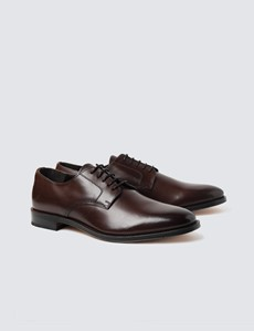 Business Schuhe – Derby – Leder – braun