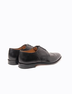 Business Schuhe – Captoe Oxford – Lochverzierung semi-brogue – Leder – schwarz