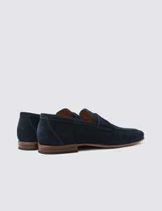 Slipper – Loafer – Veloursleder – dunkelblau