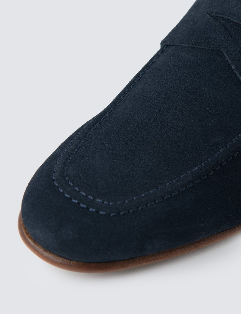 Men's Navy Suede Loafer