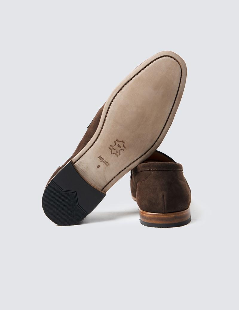 Men's Brown Suede Tassel Loafer