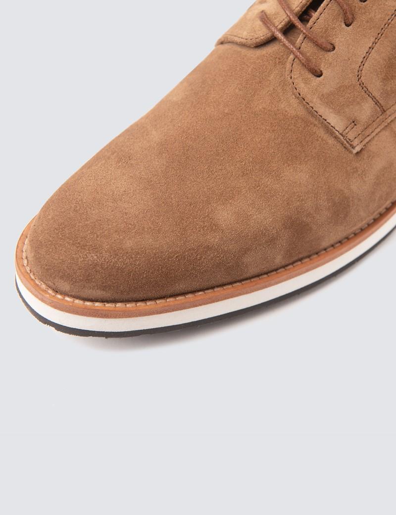 Men's Tan Suede & Leather Shoes