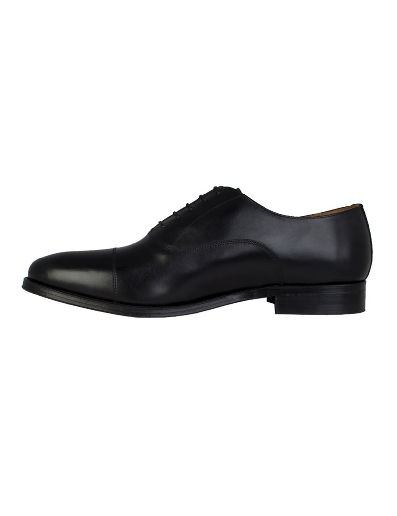 Men's Black Leather Oxford Shoe