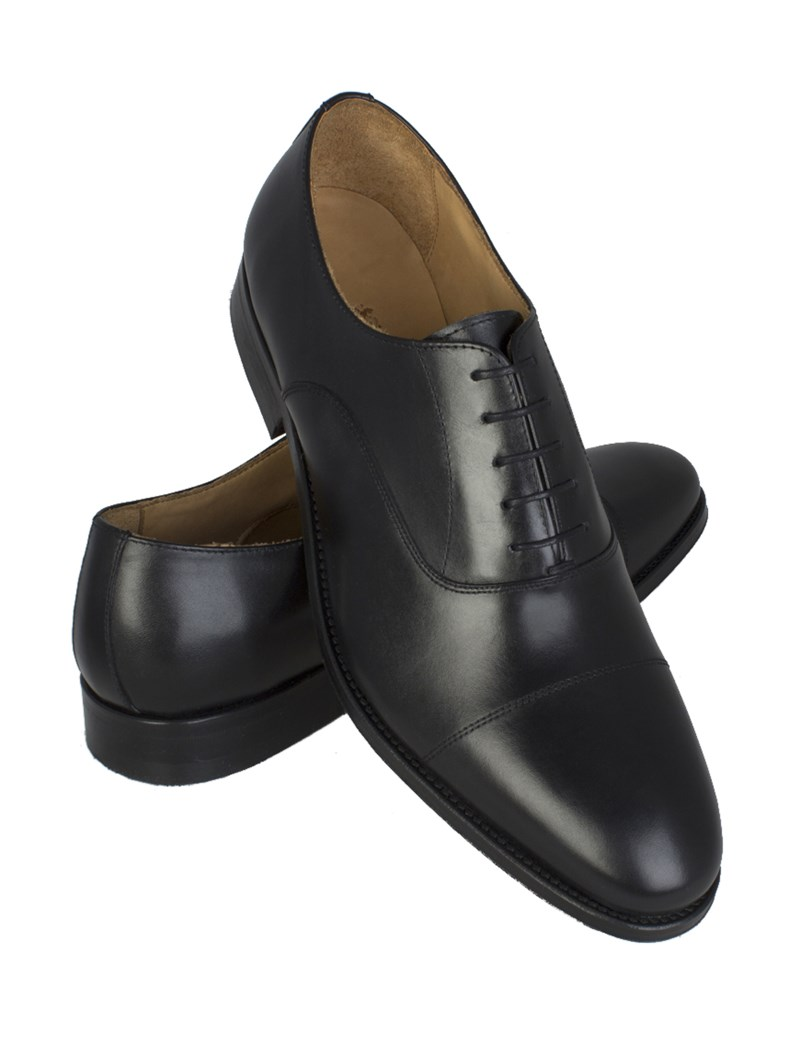 Business Schuhe – Captoe Oxford – Leder – Schwarz