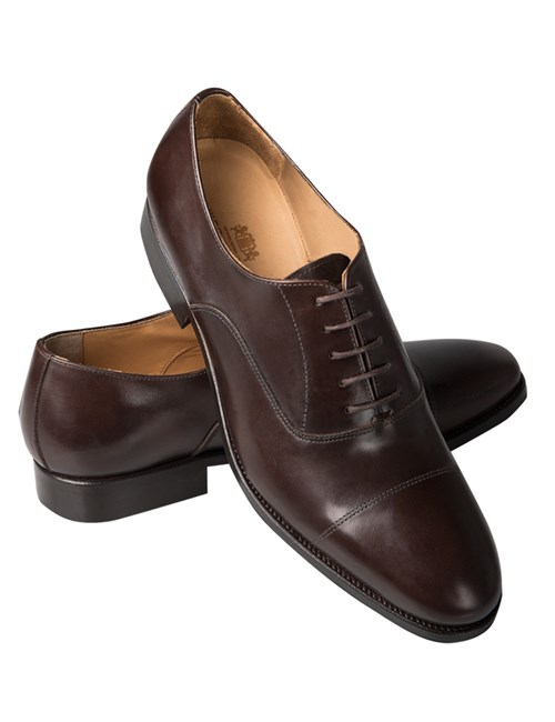 Men's Brown Leather Hudson Oxford Toe Cap Shoe