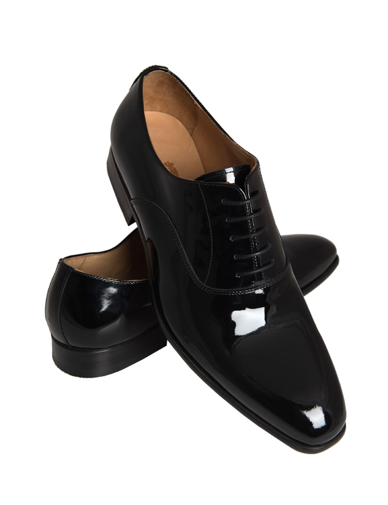 Men's Black Patent Lace Up Dress Shoe