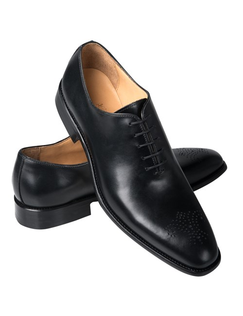 Men's Black Wholecut Shoe